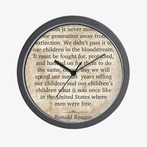 Ronald Reagan Wall Clock