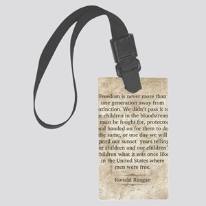 Ronald Reagan Large Luggage Tag