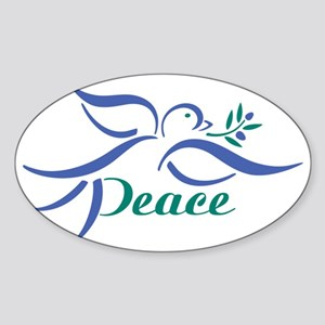 Dove Peace Sticker (Oval)