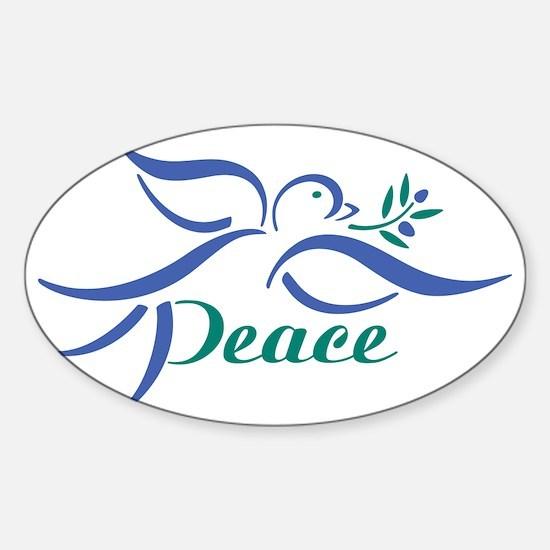 Dove Peace Sticker (Oval)