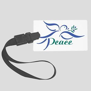 Dove Peace Large Luggage Tag