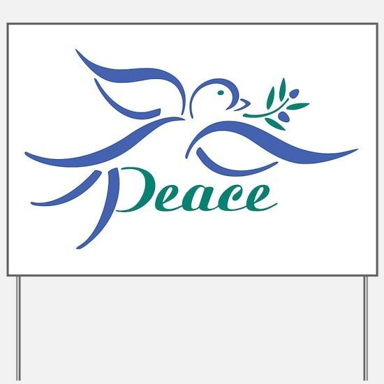 Dove Peace Yard Sign