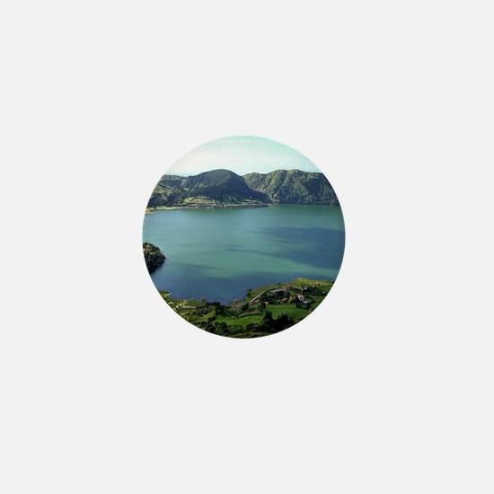 Sete Cidades Lagoon in S. Miguel, Azor Mini Button