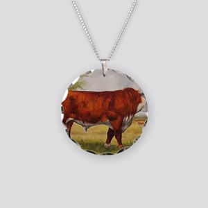 Hereford Bull The Champion Necklace Circle Charm
