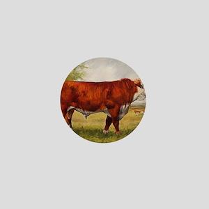 Hereford Bull The Champion Mini Button