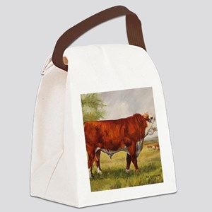 Hereford Bull The Champion Canvas Lunch Bag