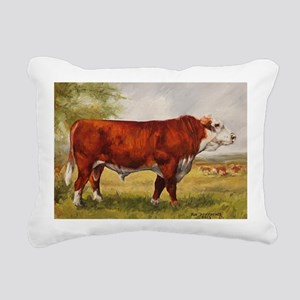 Hereford Bull The Champi Rectangular Canvas Pillow