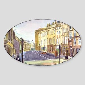 Grey Street,Newcastle Sticker (Oval)