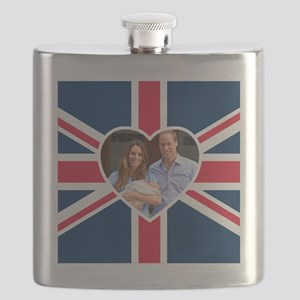Royal Baby - William  Kate Flask
