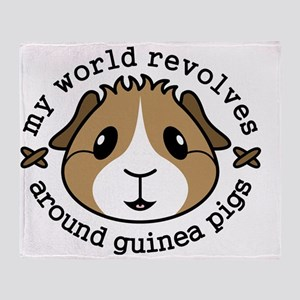 My World Revolves Around Guinea Pigs Throw Blanket