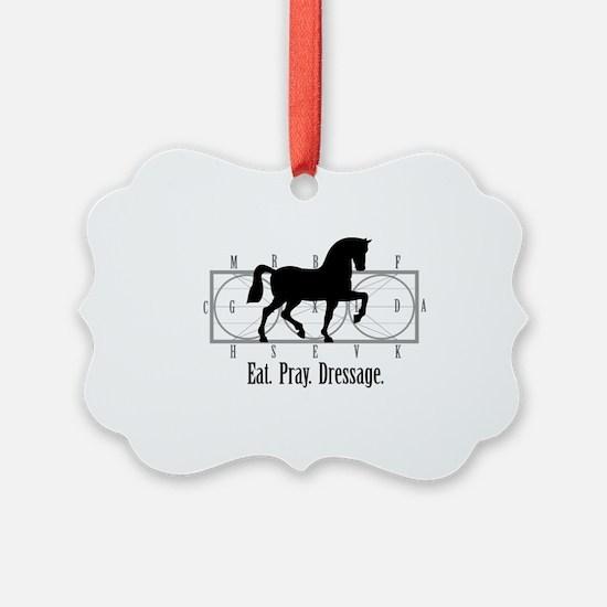 Eat. Pray. Dressage. Ornament