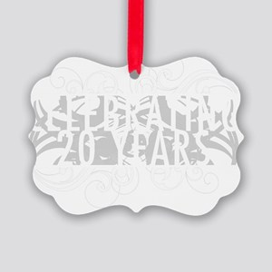 Celebrating 20 Years Of Marriage Picture Ornament