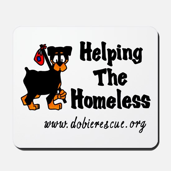 helping the homeless Mousepad