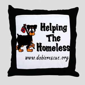 helping the homeless Throw Pillow