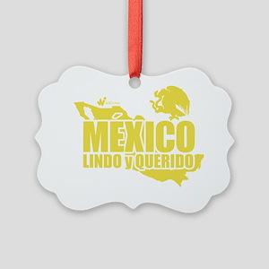 Mexico Lindo y Querido Picture Ornament