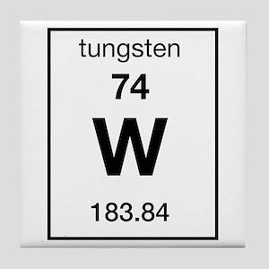 Tungsten periodic table coasters cafepress tungsten tile coaster urtaz Choice Image