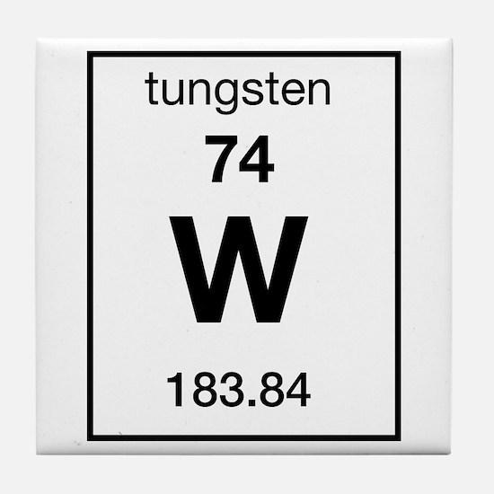 Tungsten periodic table coasters cork puzzle tile coasters tungsten tile coaster urtaz Choice Image