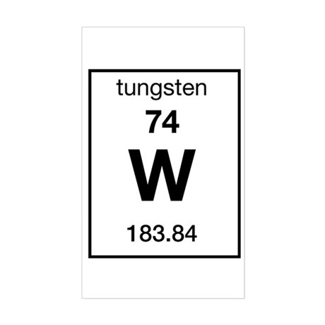 Tungsten Rectangle Sticker