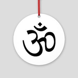 Yoga Ohm, Om Symbol Round Ornament