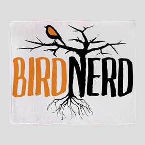Bird Nerd (Black and Orange) Throw Blanket