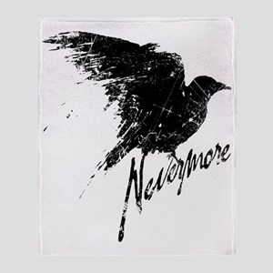 Nevermore Raven Throw Blanket
