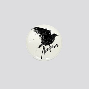Nevermore Raven Mini Button