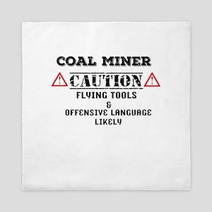 Coal Miner Accessories Queen Duvet