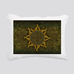 Ancient Sun Rectangular Canvas Pillow