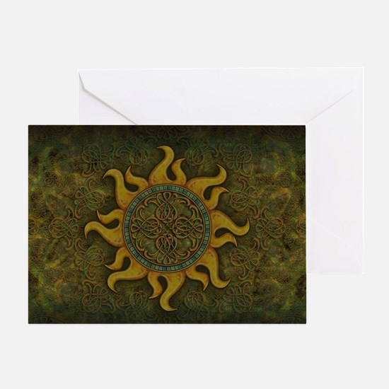 Ancient Sun Greeting Card