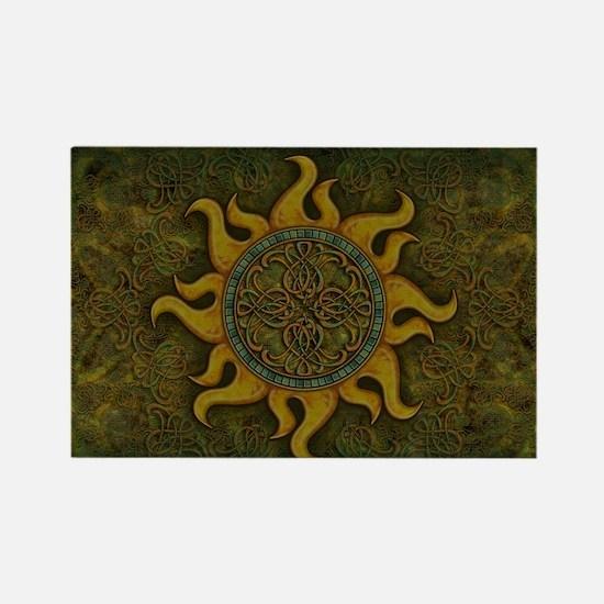 Ancient Sun Rectangle Magnet