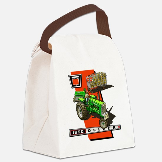Oliver 1650 Tractor Canvas Lunch Bag
