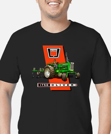 Oliver 1750 Tractor Men's Fitted T-Shirt (dark)