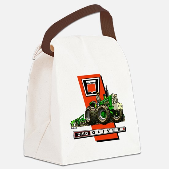 Oliver 2150 tractor Canvas Lunch Bag