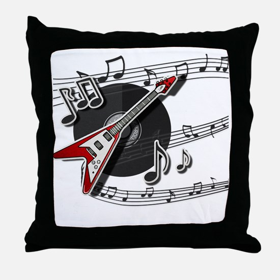 Cute Album Throw Pillow