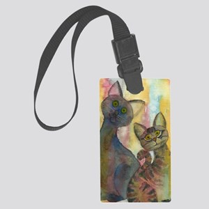 Kitten Monsters Large Luggage Tag