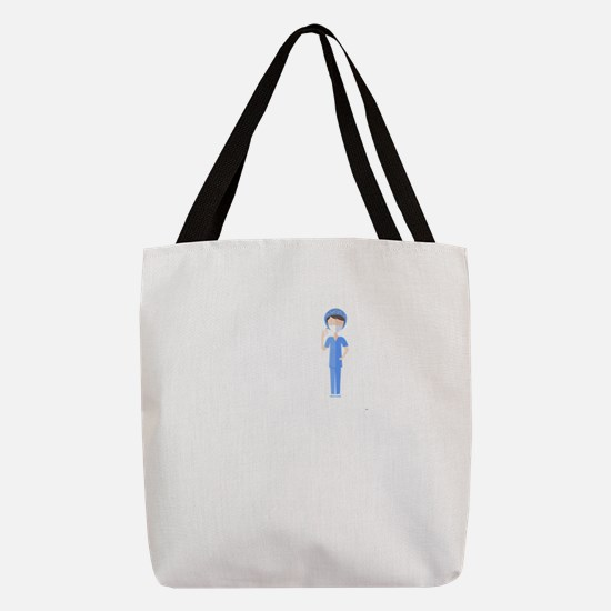 Best Nurse Jobs Polyester Tote Bag