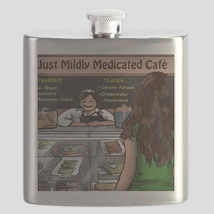 Just Mildly Medicated Cafe Flask