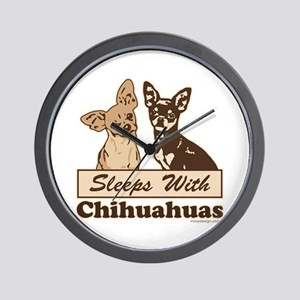 Sleeps With Chihuahuas Wall Clock