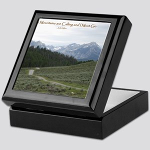 The Sawtooth Mountains are Calling Keepsake Box