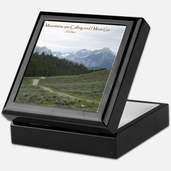 The Sawtooth Mountains are Calling Keepsake Box