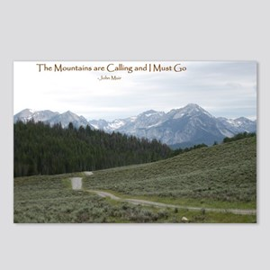 The Sawtooth Mountains ar Postcards (Package of 8)