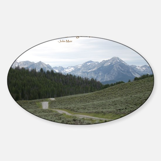 The Sawtooth Mountains are Calling Sticker (Oval)