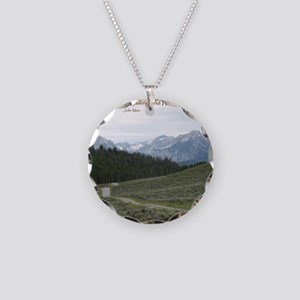 The Sawtooth Mountains are C Necklace Circle Charm