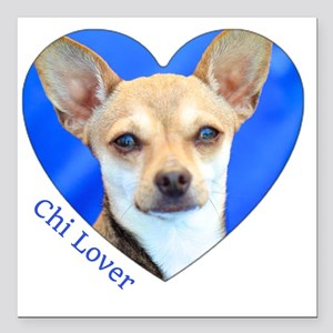 "Chi Lover Square Car Magnet 3"" x 3"""