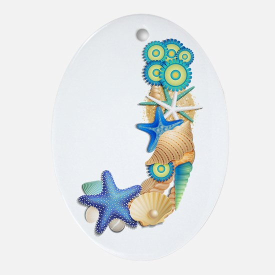 J Oval Ornament