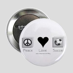 Peace Love & Soccer Button