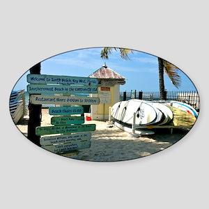 Southernmost Beach Sticker (Oval)