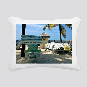 Southernmost Beach Rectangular Canvas Pillow