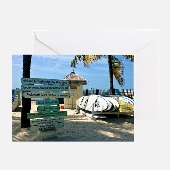 Southernmost Beach Greeting Card