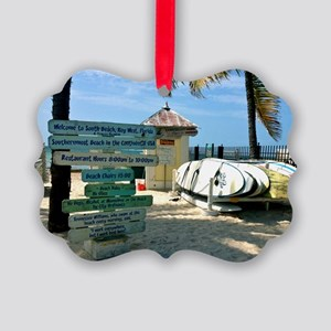 Southernmost Beach Picture Ornament